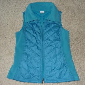 Columbia Blue Quilted Fleece Vest